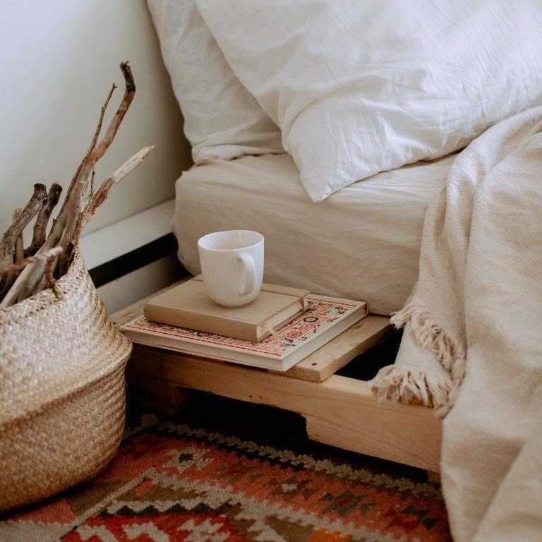cozy interior boho style bedroom